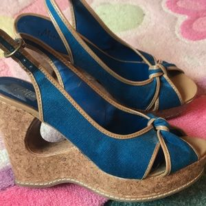Great with Jeans and dresses! Scrappy cork wedges